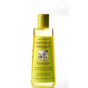 Vizcantar Body Relaxing Oil with Organic EVOO 200ml.