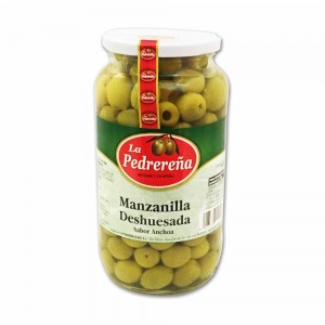 Aceitunas Deshusada Sabor Anchoa Manzanilla La Pedrereña 440 g