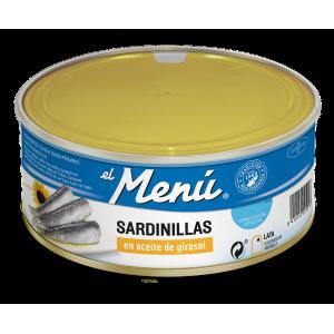 """Sardines in Sunflower oil """"El Menú"""" Tin 990 gr."""